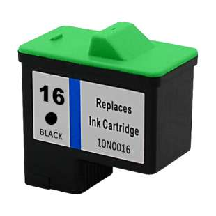 Remanufactured Lexmark 10N0016 (#16 ink) high quality inkjet cartridge - black cartridge