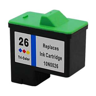 Remanufactured Lexmark 10N0026 (#26 ink) high quality inkjet cartridge - color cartridge