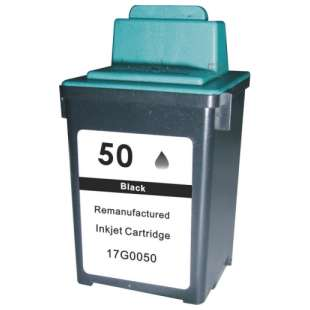Remanufactured Lexmark 17G0050 (#50 ink) high quality inkjet cartridge - black cartridge