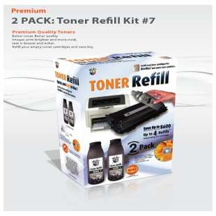 Durafirm Bulk Toner for Brother TN350 - 2 refills