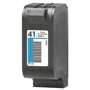 Remanufactured HP 51641A (HP 41 ink) high quality inkjet cartridge - color cartridge