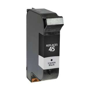 Remanufactured HP 51645A (HP 45 ink) high quality inkjet cartridge - black cartridge