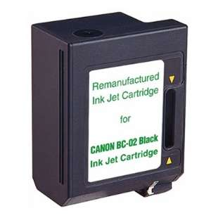Remanufactured Canon BC-02 high quality inkjet cartridge - black cartridge