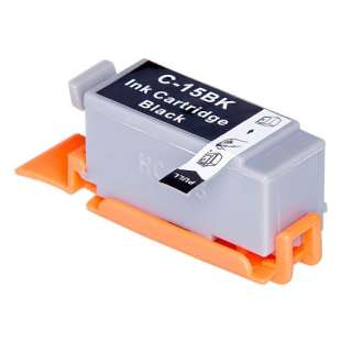Compatible ink cartridge guaranteed to replace Canon BCI-15Bk - black cartridge