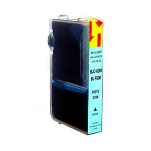 Compatible ink cartridge guaranteed to replace Canon BCI-3ePC - photo cyan