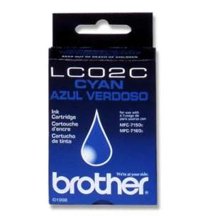OEM Genuine Brother LC02C high quality inkjet cartridge - cyan