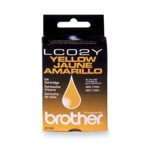 OEM Genuine Brother LC02Y high quality inkjet cartridge - yellow