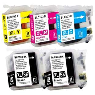 Compatible high quality inkjet cartridges Multipack for Brother LC103 / LC101 - 5 pack