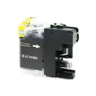 Compatible ink cartridge guaranteed to replace Brother LC103BK / LC101BK - high yield black
