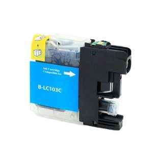 Compatible ink cartridge guaranteed to replace Brother LC103C / LC101C - high yield cyan