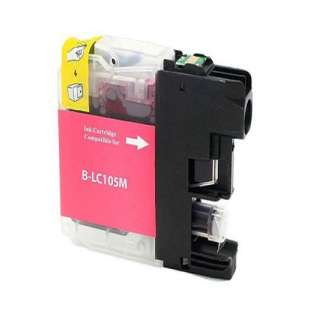 Compatible ink cartridge guaranteed to replace Brother LC103M / LC101M - high yield magenta