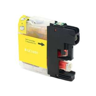 Compatible ink cartridge guaranteed to replace Brother LC103Y / LC101Y - high yield yellow