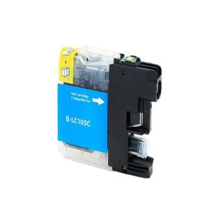 Compatible ink cartridge guaranteed to replace Brother LC105C - super high yield cyan