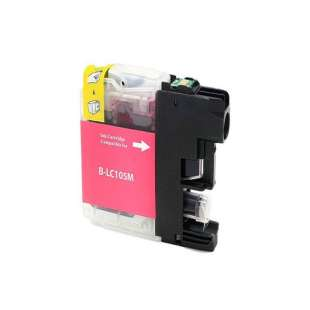 Compatible ink cartridge guaranteed to replace Brother LC105M - super high yield magenta