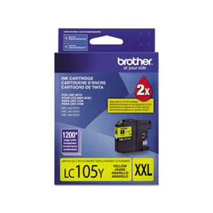 OEM Genuine Brother LC105Y high quality inkjet cartridge - yellow