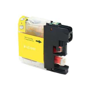 Compatible ink cartridge guaranteed to replace Brother LC105Y - super high yield yellow