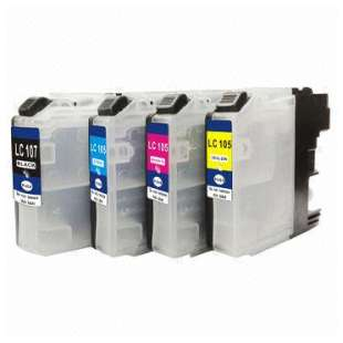Compatible high quality inkjet cartridges Multipack for Brother LC107 / LC105 - 4 pack