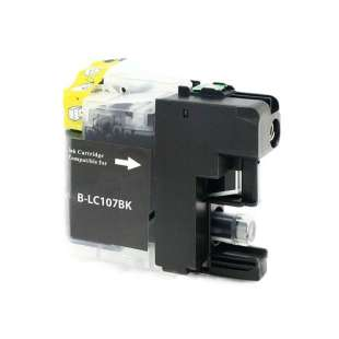 Compatible ink cartridge guaranteed to replace Brother LC107BK - super high yield black