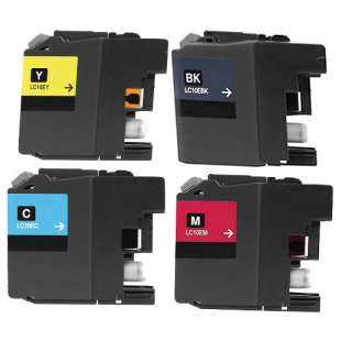 Compatible high quality inkjet cartridges Multipack for Brother LC10E - 4 pack