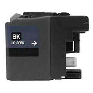 Compatible ink cartridge guaranteed to replace Brother LC10EBK - super high yield black
