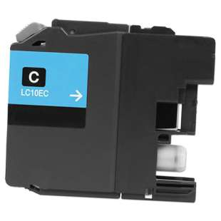Compatible ink cartridge guaranteed to replace Brother LC10EC - super high yield cyan