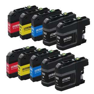 Compatible high quality inkjet cartridges Multipack for Brother LC203 - 10 pack