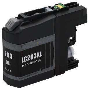 Compatible ink cartridge guaranteed to replace Brother LC203BK - high yield black