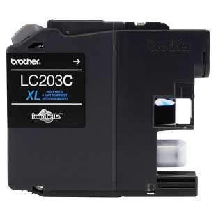 OEM Genuine Brother LC203C high quality inkjet cartridge - high yield cyan
