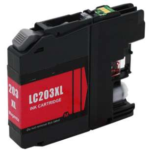 Compatible ink cartridge guaranteed to replace Brother LC203M - high yield magenta
