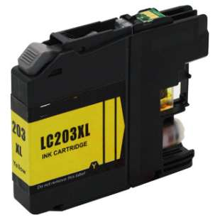 Compatible ink cartridge guaranteed to replace Brother LC203Y - high yield yellow