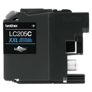 OEM Genuine Brother LC205C high quality inkjet cartridge - super high yield cyan