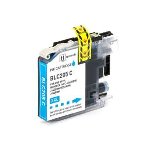 Compatible ink cartridge guaranteed to replace Brother LC205C - super high yield cyan