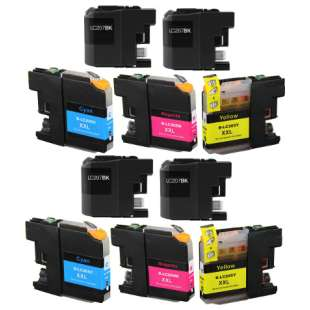 Compatible high quality inkjet cartridges Multipack for Brother LC207 / LC205 - 10 pack