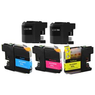 Compatible high quality inkjet cartridges Multipack for Brother LC207 / LC205 - 5 pack