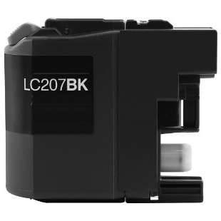 Compatible ink cartridge guaranteed to replace Brother LC207BK - super high yield black