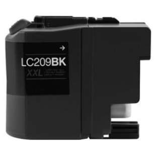 Compatible ink cartridge guaranteed to replace Brother LC209BK - super high yield black