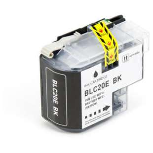 Compatible ink cartridge guaranteed to replace Brother LC20EBK - super high yield black