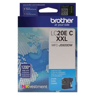 Original Brother LC20EC inkjet cartridge - super high yield cyan