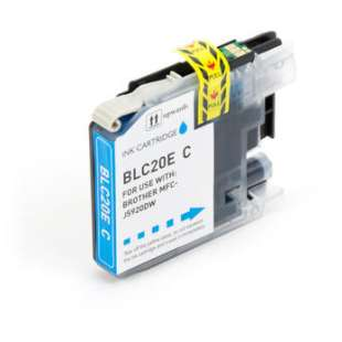 Compatible ink cartridge guaranteed to replace Brother LC20EC - super high yield cyan