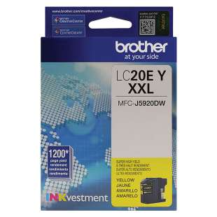 Original Brother LC20EY inkjet cartridge - super high yield yellow