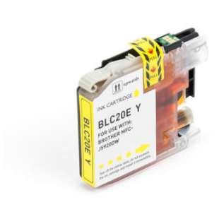 Compatible ink cartridge guaranteed to replace Brother LC20EY - super high yield yellow