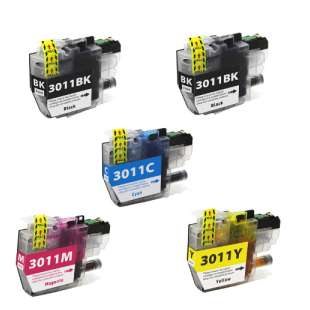 Atlantic Inkjet Compatible inkjet cartridges Multipack for Brother LC3011 - 5 pack