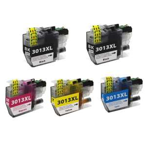 Compatible inkjet cartridges Multipack for Brother LC3013 - 5 pack