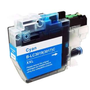 Compatible inkjet cartridge for Brother LC3019C - super high yield cyan