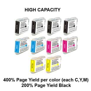 Compatible high quality inkjet cartridges Multipack for Brother LC51 - 10 pack