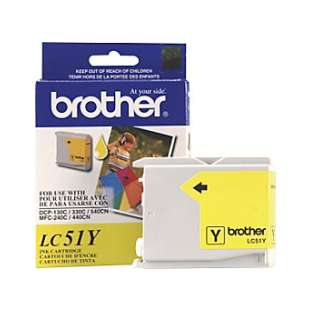 OEM Genuine Brother LC51Y high quality inkjet cartridge - yellow