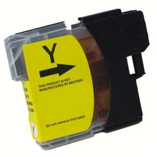 Compatible ink cartridge guaranteed to replace Brother LC61Y - yellow