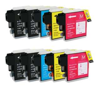 Compatible high quality inkjet cartridges Multipack for Brother LC61 - 10 pack