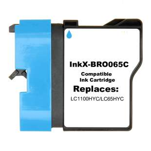 Compatible ink cartridge guaranteed to replace Brother LC65HYC - cyan