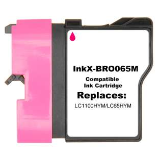 Compatible ink cartridge guaranteed to replace Brother LC65HYM - magenta